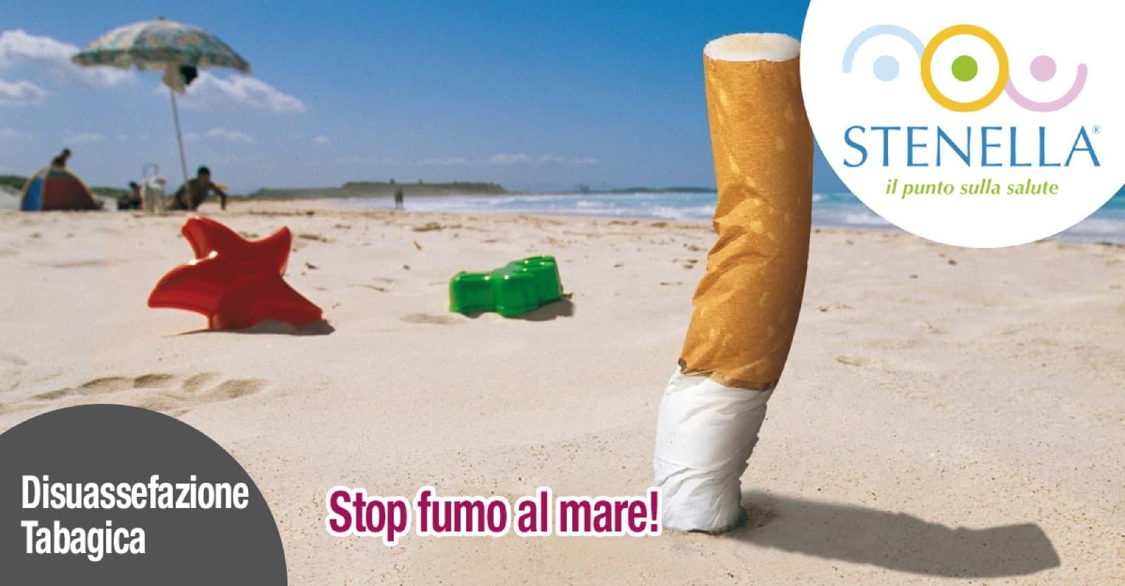 stop fumo al mare