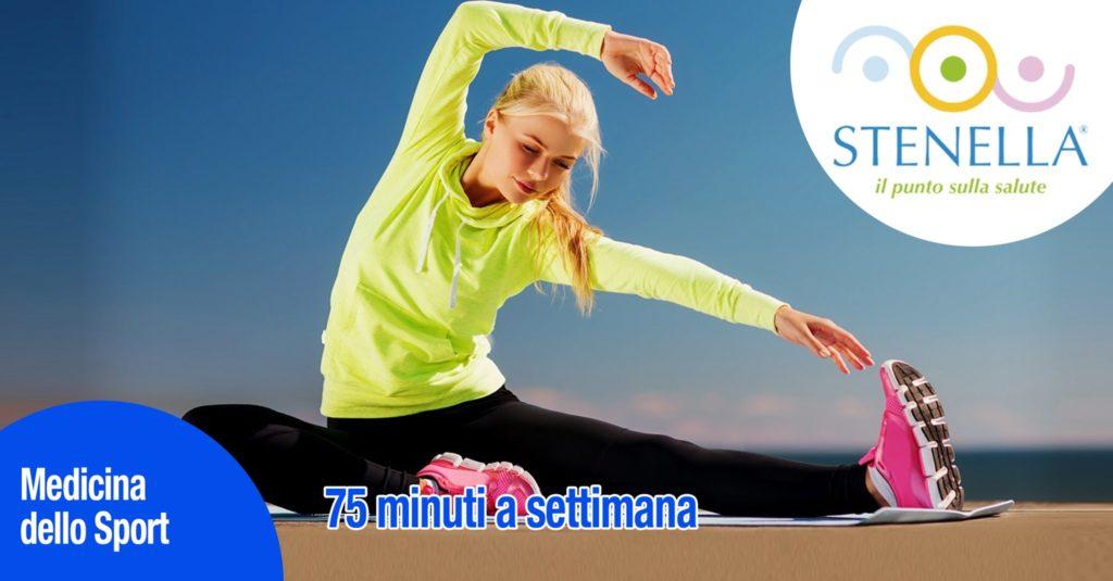 75 minuti di esercizio fisico a settimana