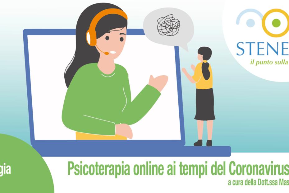 paziente e psicologa parlano attraverso il PC